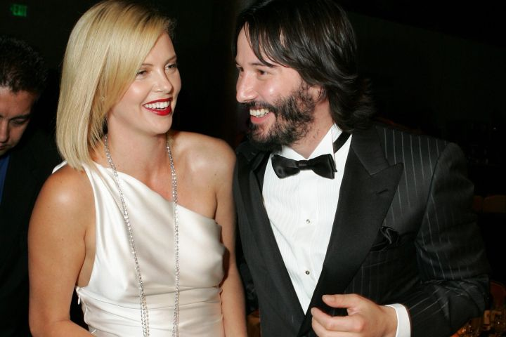 Charlize Theron and Keanu Reeves (Photo by E. Charbonneau/WireImage for American Cinematheque)