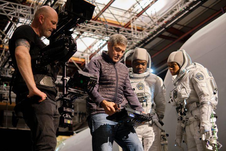 George Clooney, David Oyelowo and Tiffany Boone. Photo: Philippe Antonello/Netflix