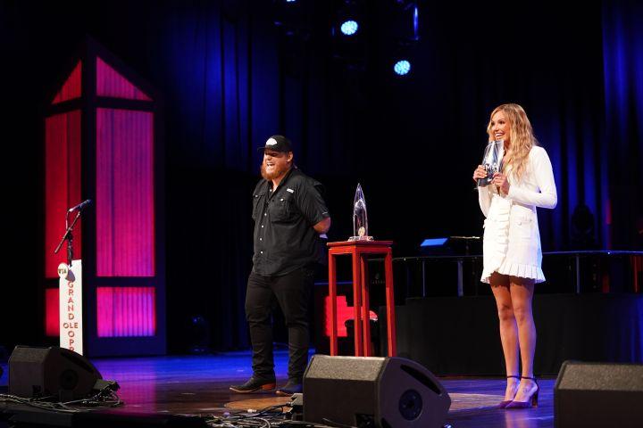 Luke Combs and Carly Pearce. Photo: John Russell/CMA