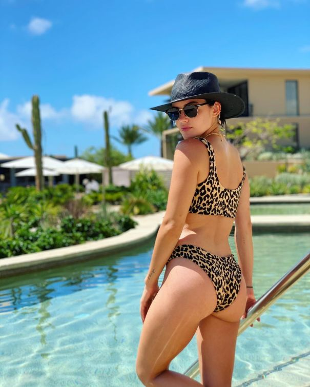 Lucy Hale Is Poolside Ready