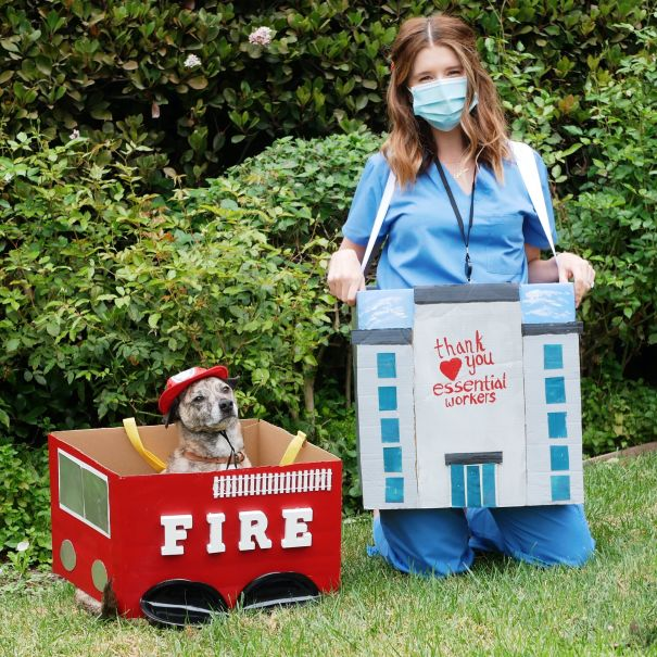 Katherine Schwarzenegger Pays Tribute To Essential Workers With Upcycled Halloween Costume