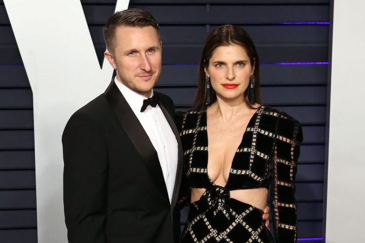 Scott Campbell (L) and Lake Bell. Photo: EPA/NINA PROMMER