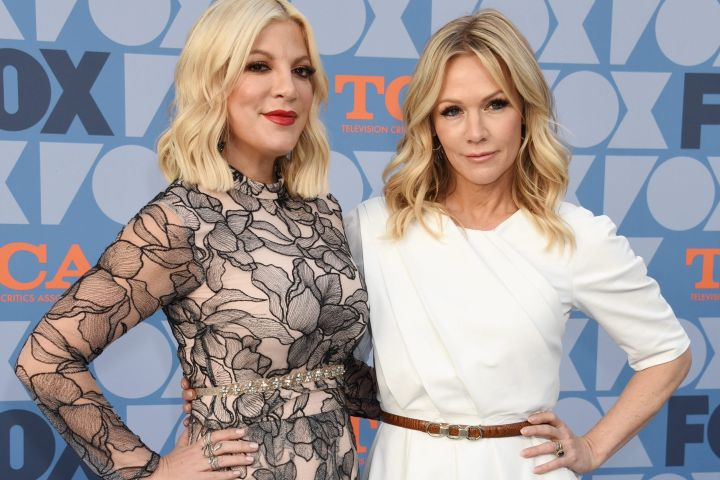 Tori Spelling and Jennie Garth. Photo: CPImages
