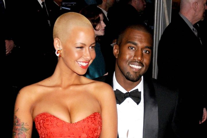 Amber Rose and Kanye West. Photo: Rob Rich/Everett Collection/CP Images