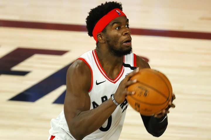 Toronto Raptors' Terence Davis. Photo: Mike Ehrmann/Pool Photo via AP