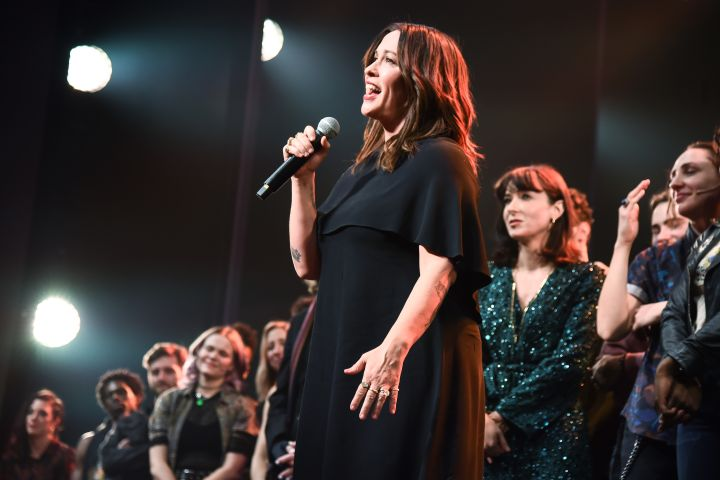 Alanis Morissette and cast ofJagged Little Pill. Photo by Daniel Zuchnik/Getty Images