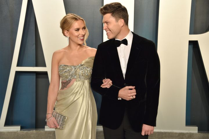 Scarlett Johansson and Colin Jost. Photo: Getty Images