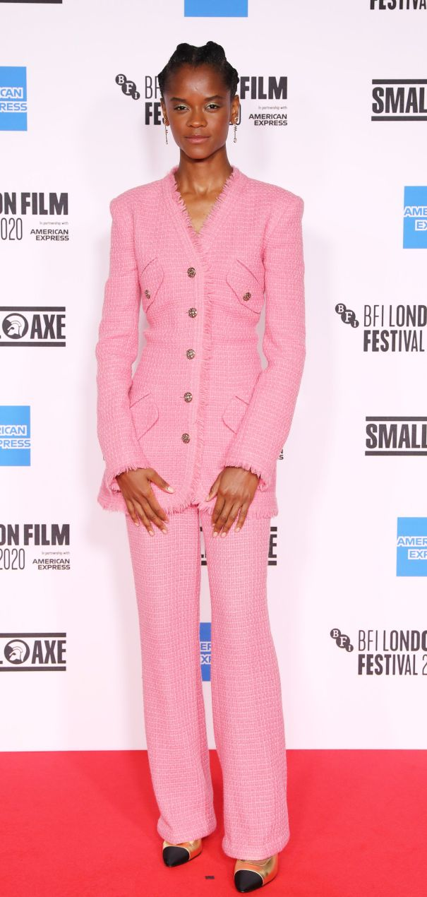 Letitia Wright Is Pretty In Pink