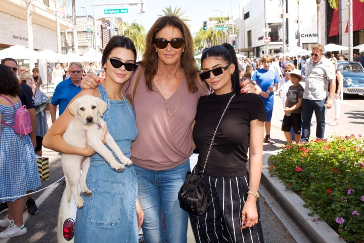 Kendall Jenner, Caitlyn Jenner and Kylie Jenner pose for a photo on June 18, 2017 in Beverly Hills. Photo: Earl Gibson III/Getty Images