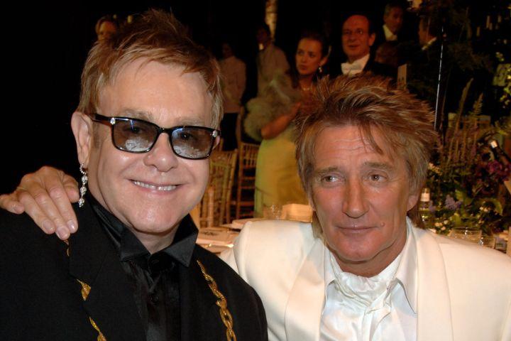 Elton John and Rod Stewart. Photo: Dave M. Benett/Getty Images