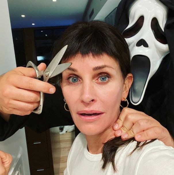 Courteney Cox Revisits Her 'Scream' Bangs