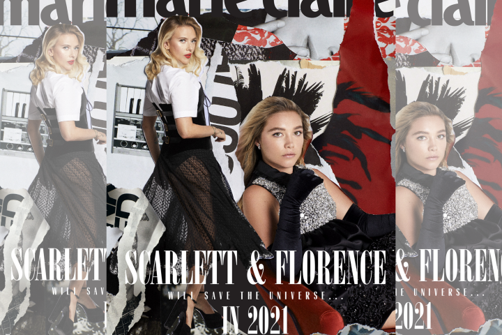 Scarlett Johansson and Florence Pugh cover the Winter issue of Marie Claire