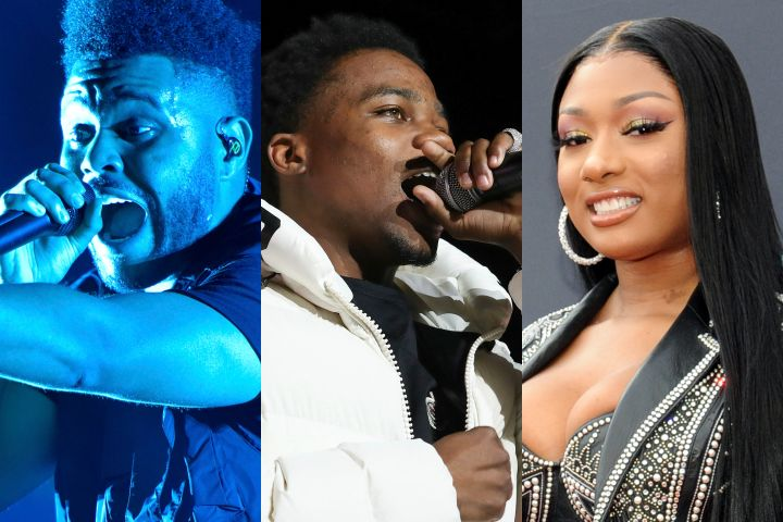 The Weeknd, Roddy Ricch, Megan Thee Stallion. Photo: CP Images