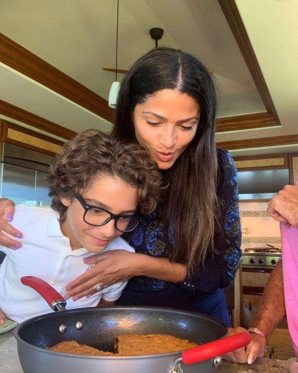 Camila McConaughey Shares A Sweet Treat With Son