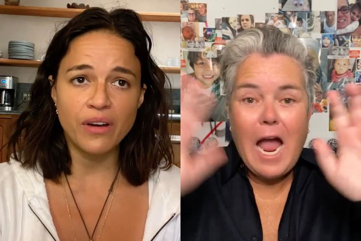 Michelle Rodriguez, Rosie O'Donnell. Photo: Red Table Talk: The Estefans/Facebook Watch