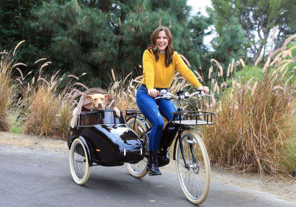 Sophia Bush Takes Pup Maggie For A Ride