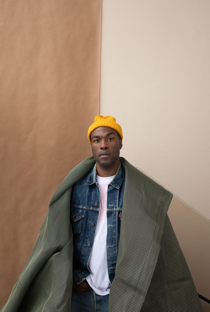 Yahya Abdul-Mateen II wears a vintage Levi's jacket; silk screen–printed T-shirt by Wolfgang Tillmans; his own hat.Photo & Styling: Wolfgang Tillmans/W Magazine