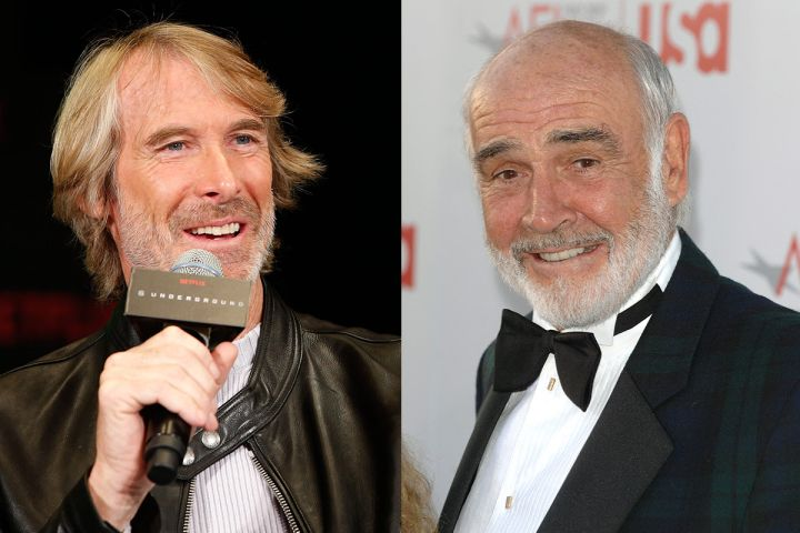 Michael Bay and Sean Connery. Photos: CPImages