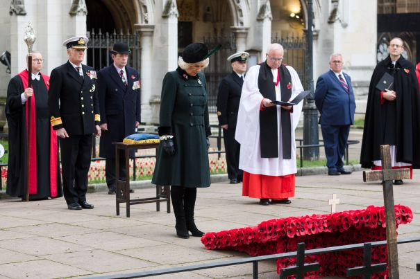 Camilla, Duchess of Cornwall Attends Remembrance Day Event