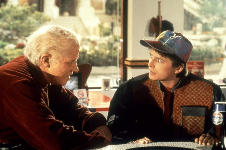 BACK TO THE FUTURE PART II, Thomas F. Wilson, Michael J. Fox, 1989, (c)Universal/courtesy Everett Collection/CP Images