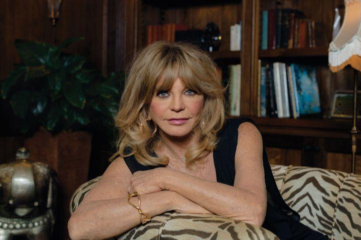 Goldie Hawn. Photo: Molly Matalon for WSJ. Magazine