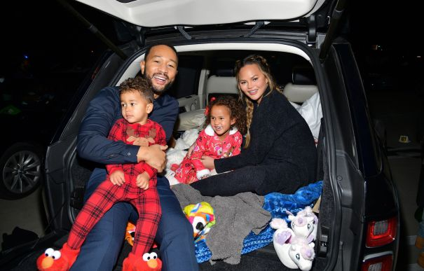 John Legend, Chrissy Teigen & Their Kids Enjoy A Night At The Movies
