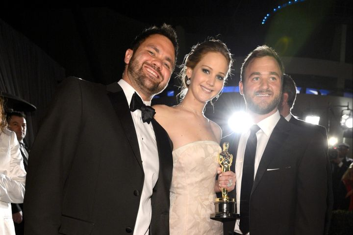 Jennifer Lawrence and brothers Ben and Blaine Lawrence.