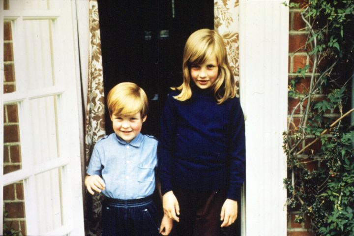 Lady Diana Spencer with her brother Charles.