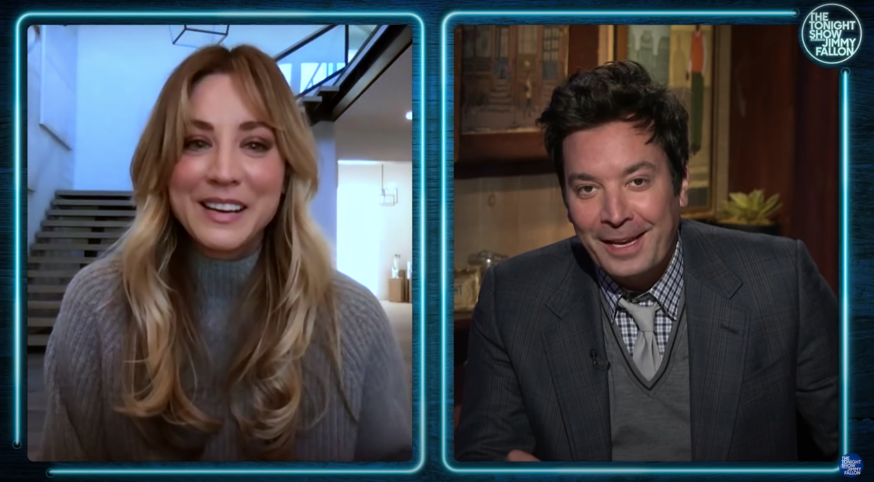 Kaley Cuoco Tells Jimmy Fallon About Her Hair Catching Fire In Italy, Where  She Was Filming 'The Flight Attendant'