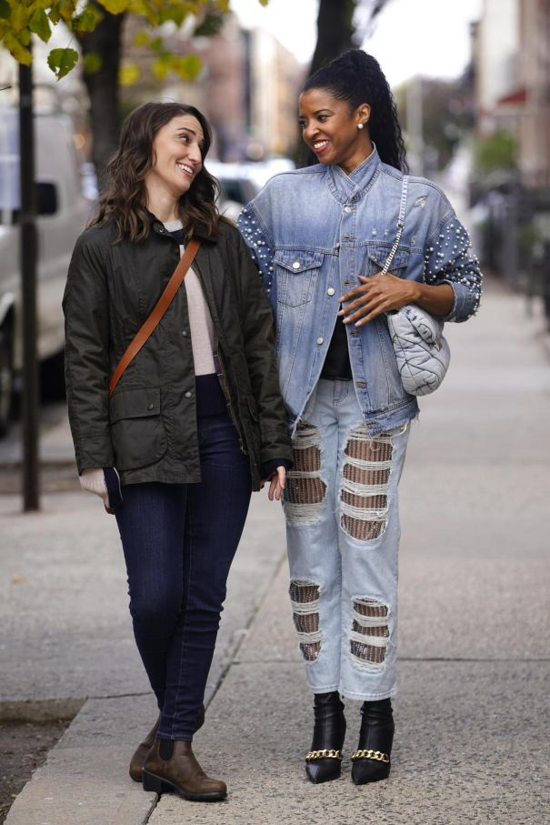 Sara Bareilles, Renee Goldsberry Spotted In NYC