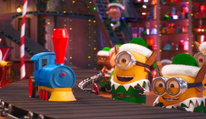 """ILLUMINATION PRESENTS MINIONS HOLIDAY SPECIAL — Pictured: """"Minions Holiday Special"""" — Pictured: Stuart, Bob, Kevin (Photo by: Illumination and Universal Pictures)"""