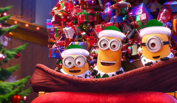 ILLUMINATION PRESENTS MINIONS HOLIDAY SPECIAL — Pictured: Bob, Kevin, Stuart — (Photo by: Illumination and Universal Pictures)