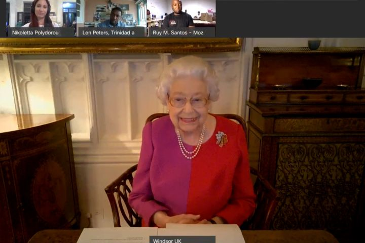 Queen Elizabeth Has A Number Of Firsts During Video Call Including A V... image