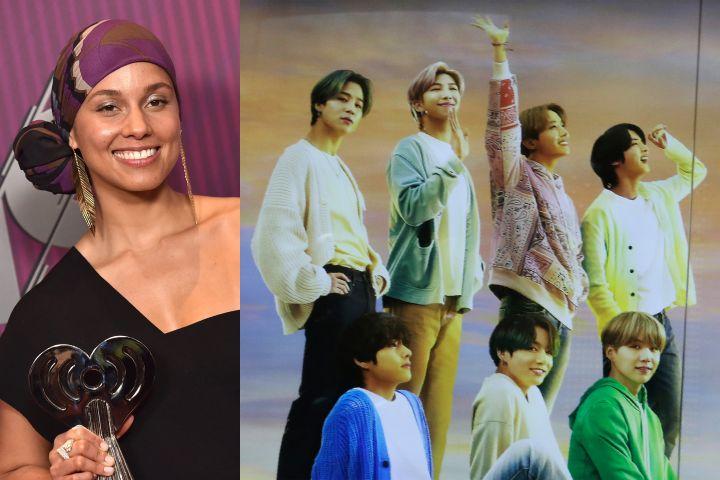 Alicia Keys, BTS. Photo: CP Images