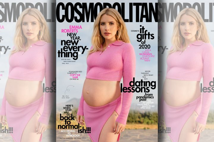 Emma Roberts. Photo: Sasha Samsonova for Cosmopolitan