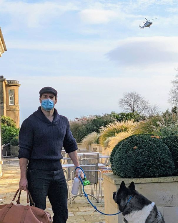 Henry Cavill And His Pup Say Goodbye To Yorkshire