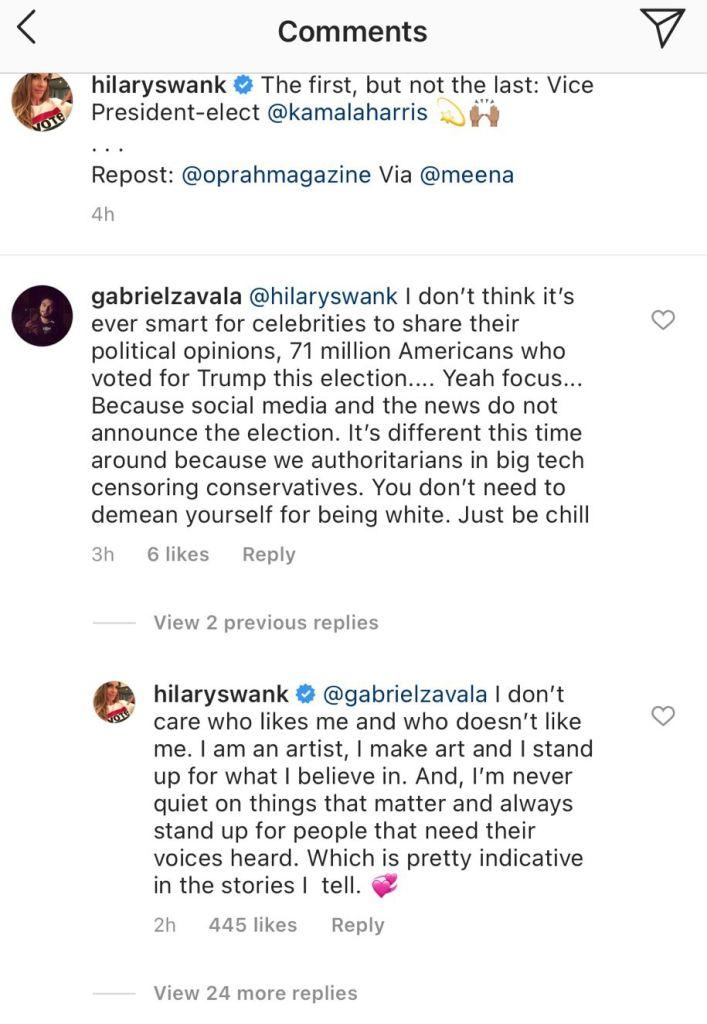 Credit: Instagram/Hilary Swank