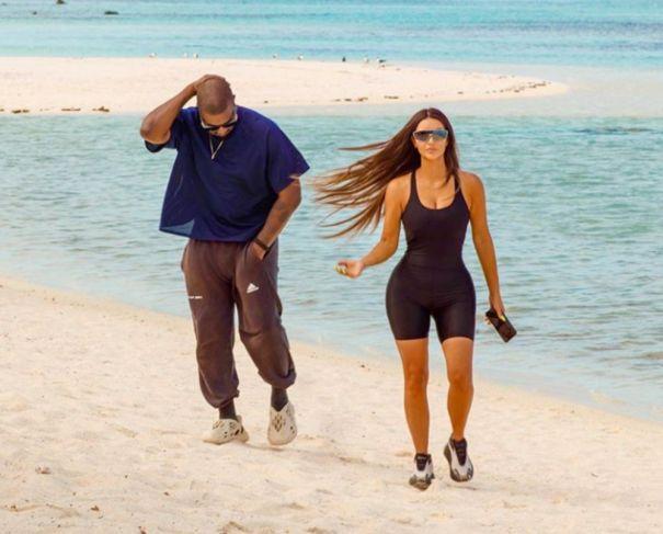 Kim Kardashian Stuns In Black Bodysuit