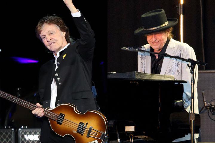 Paul McCartney, Bob Dylan. Photo: CP Images