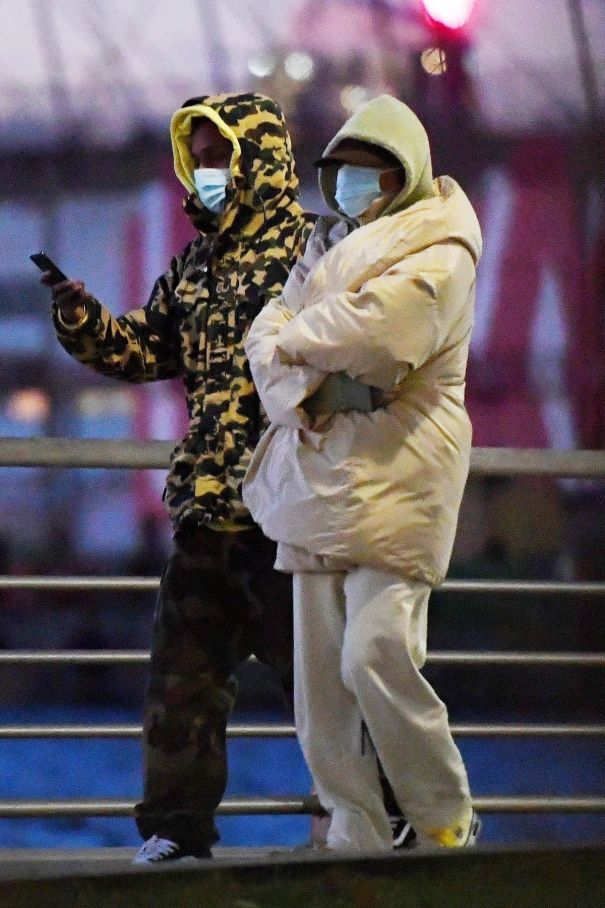 Rihanna And A$AP Rocky Pictured Going For A Stroll In NYC