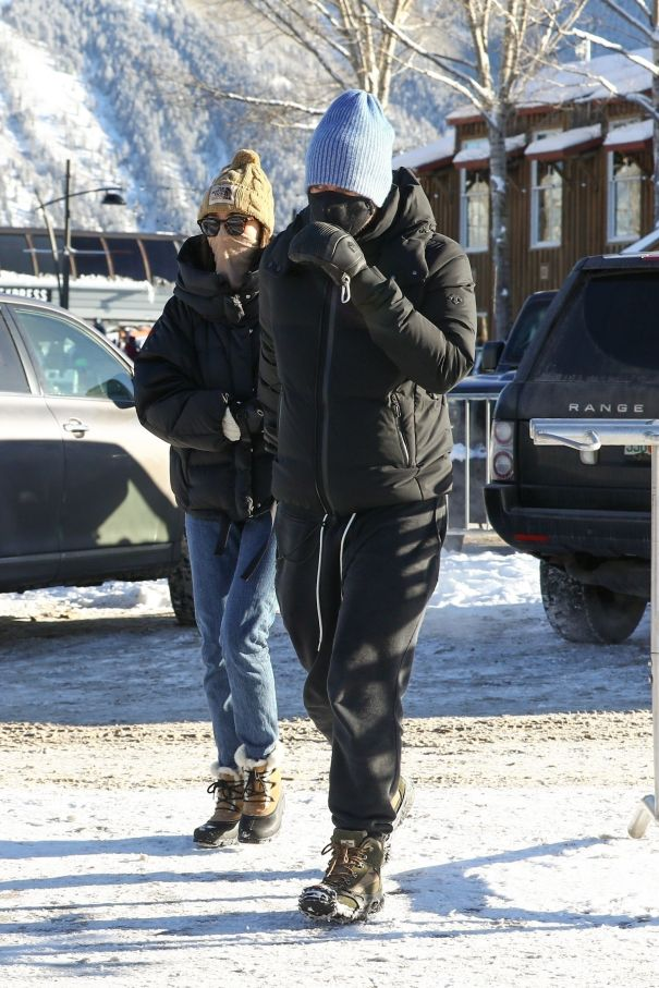 Chris Martin, Dakota Johnson Hit The Slopes