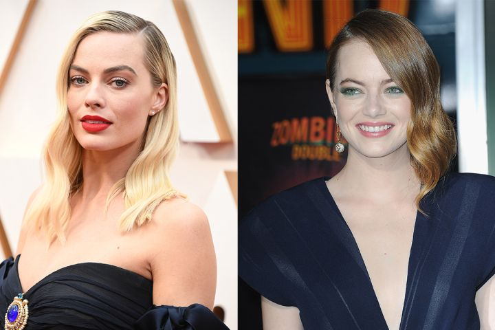Margot Robbie and Emma Stone. Photos: Getty Images