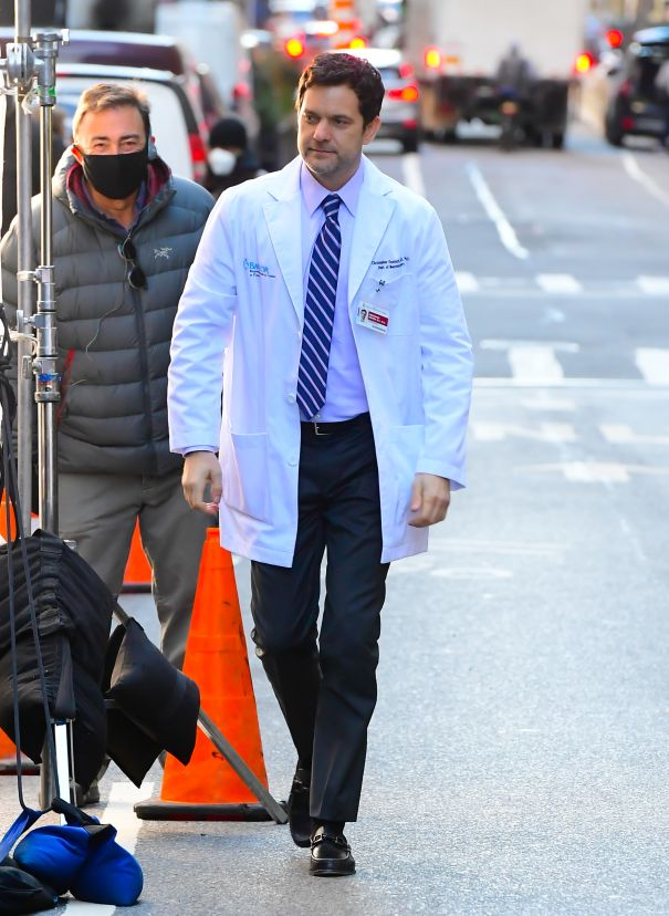 Joshua Jackson On Set In NYC