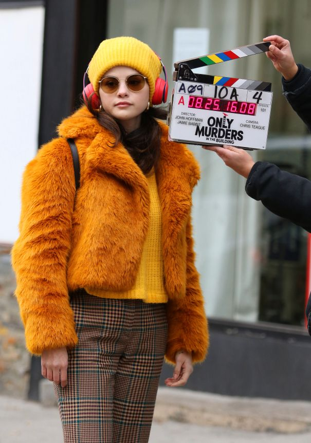 Selena Gomez Goes Colourful On Set