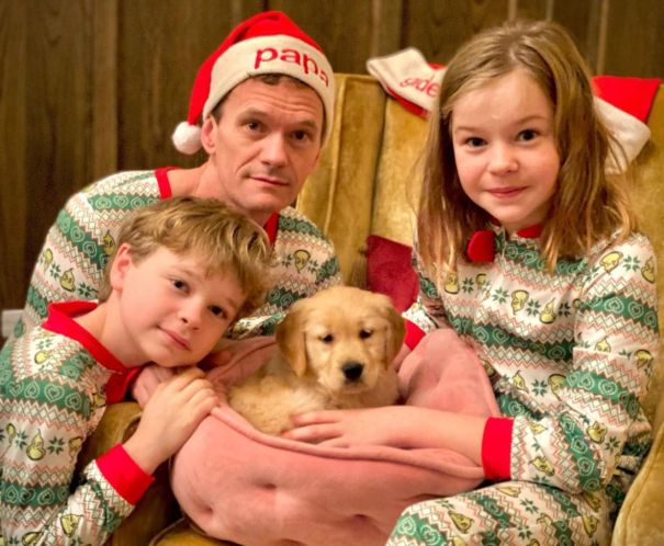 Neil Patrick Harris And Family Welcome Home New Puppy