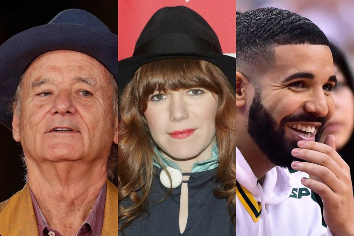 Bill Murray, Jenny Lewis, Drake. Photo: CP Images