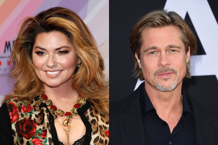 Shania Twain, Brad Pitt. Photo: CP Images