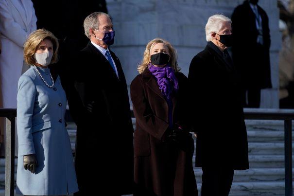 Former Presidents Bill Clinton & George W. Bush