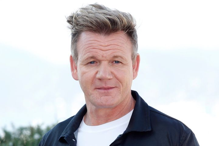 epa06269856 Scottish chef Gordon Ramsay poses at the annual MIPCOM television content market in Cannes, France, 16 October 2017. The media event runs from 16 to 19 October.  EPA/SEBASTIEN NOGIER