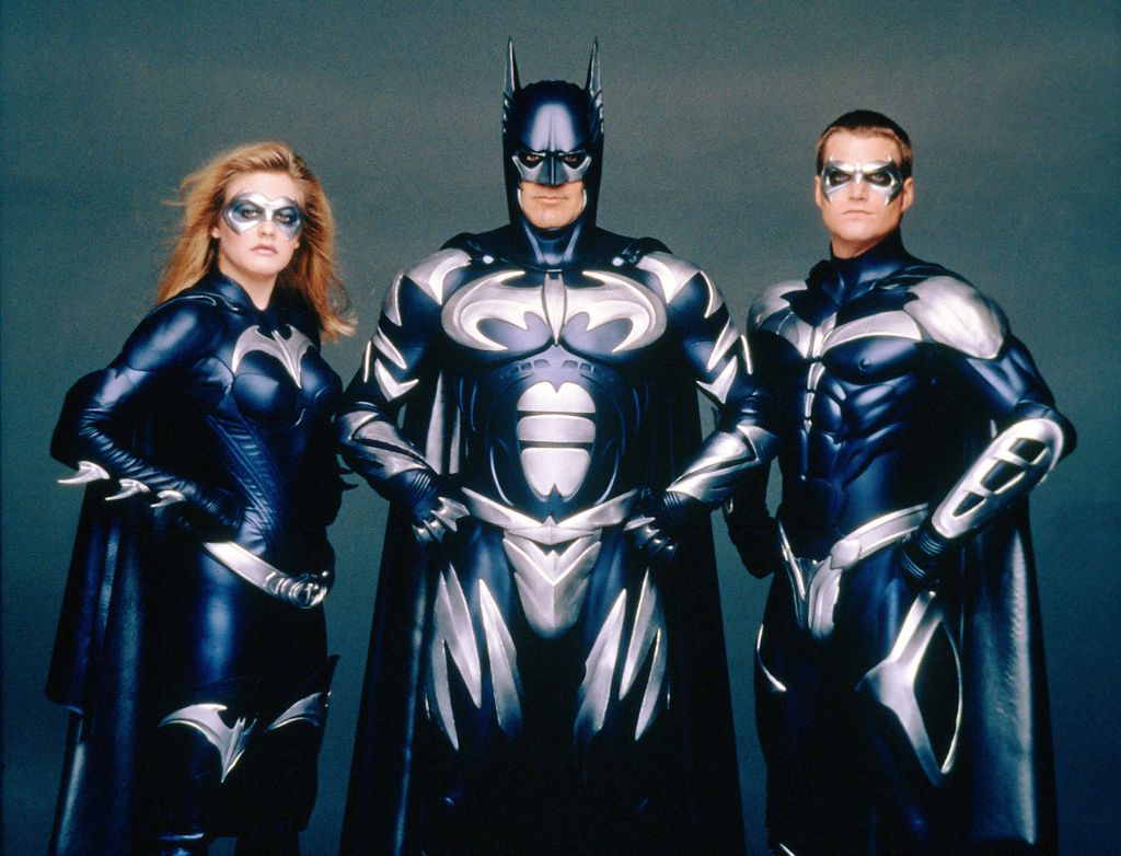 """Batman & Robin"" Alicia Silverstone, George Clooney, Chris O'Donnell, 1997. (c) Warner Bros./ Courtesy: Everett Collection / CP Images"